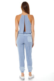Diego Jumpsuit In Bluestone Pigment