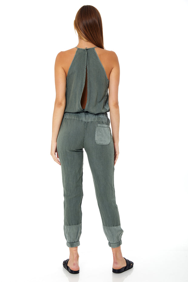 Diego Jumpsuit In Sea Grass
