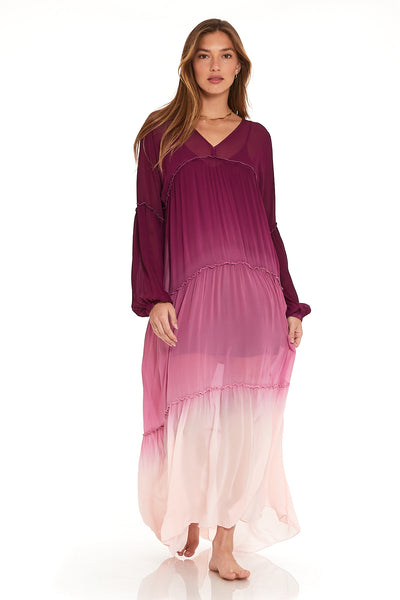 Josette Dress In Berry Ombre