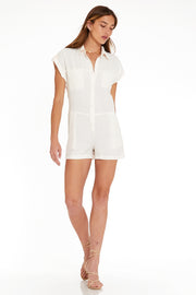 Reed Romper In Seagull