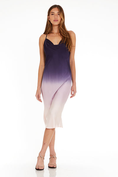 Sweetie Slip Dress in Eggplant Ombre