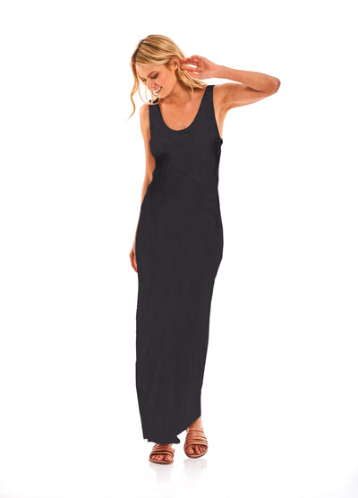 Tulla Column Dress in Black - SAMPLE FINAL SALE