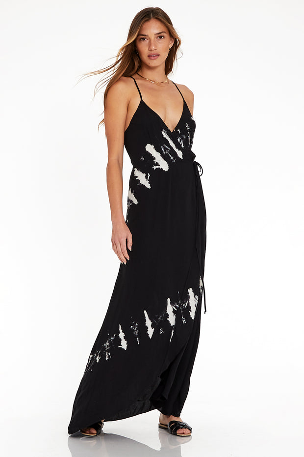 Lorelei Maxi in Black & White Comet Wash