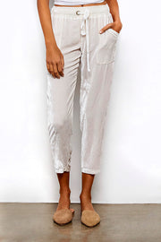 Luxe Pant In Sea Salt Solid