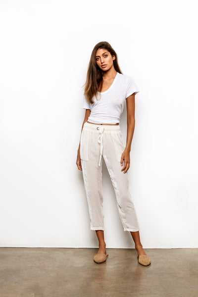 Luxe Pant In Sea Salt Solid - Final Sale