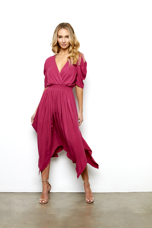 Leona Dress In Berry