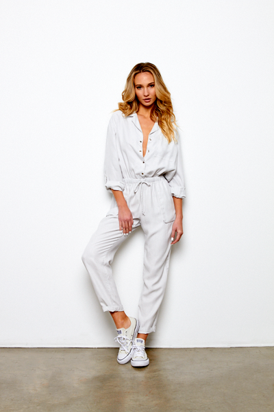 Lewis Jumpsuit In Light Grey - FALL 2019