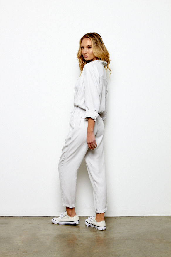 Lewis Jumpsuit In Light Grey