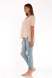 Dilly Tee in Nude Oil Wash