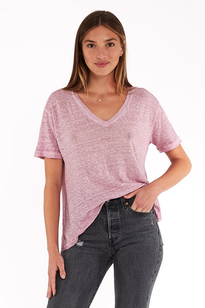 Dilly Tee in Pansy Oil Wash