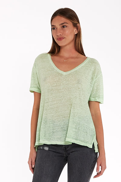 Dilly Tee in Spring Sage Oil Wash