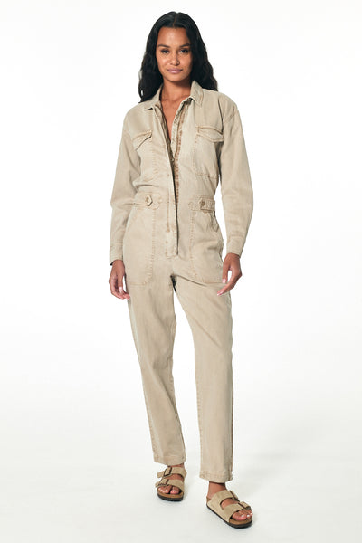 Hyde Mechanic Jumpsuit // Taupe Pigment