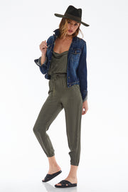 Addison Jumpsuit in Pine