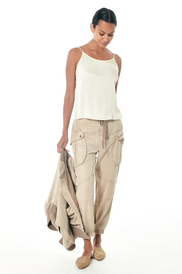 Clyde Cargo Pant in Taupe Pigment