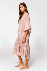 Joplin Dress In Dusty Mauve Potassium