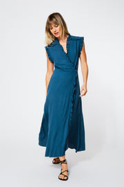 Lluvia Dress in Atlantic Blue