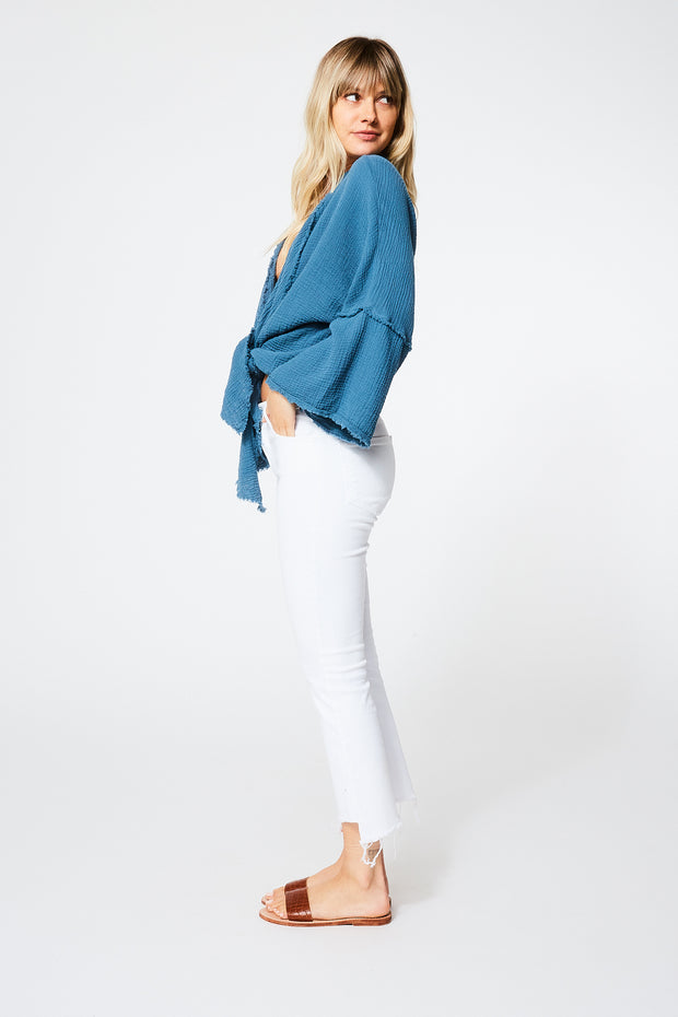 Francesca Top in Atlantic Blue