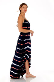 Lorelei Maxi in Muted Navy Bead Wash