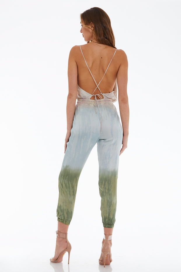 Addison Jumpsuit in Taupe Petina Wash
