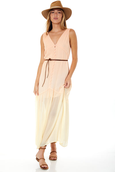 Raquel Dress In Melon Ombre