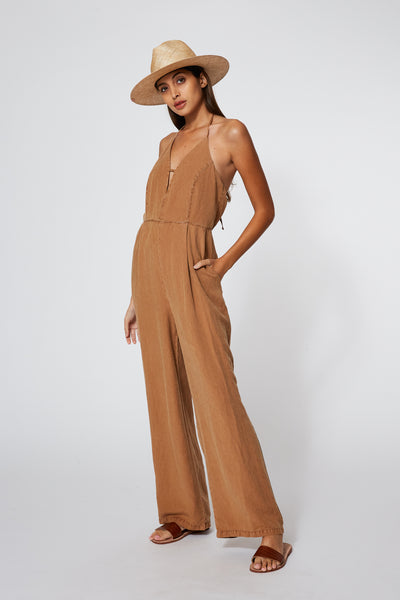 Callie Jumpsuit in Tobacco Pigment