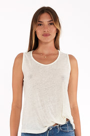 Twister Tank in Ivory shell Oil Wash