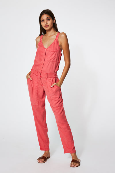Trixie Jumpsuit In Apple Pigment