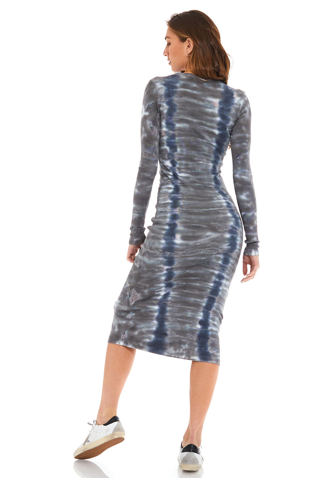 Dax Midi Dress // Blue Haze Camo