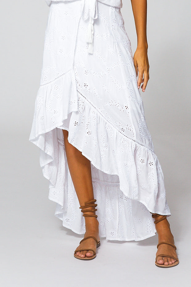 Elena Skirt In White