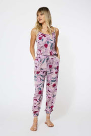 Corina Jumpsuit in Pansy Garden Floral