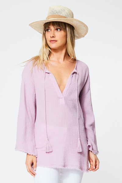 Lennox Top in Pansy