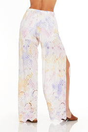 Geneva Pant In Violet Burst Wash