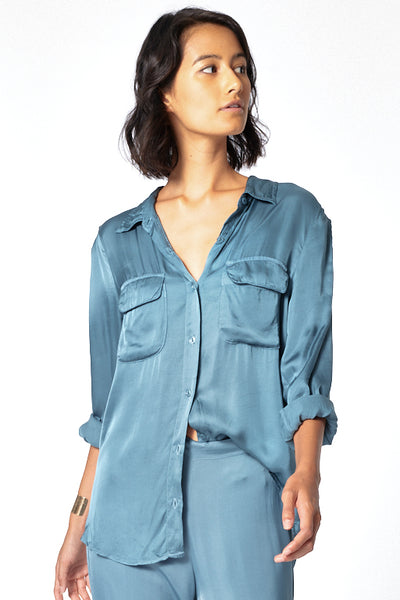 Belle Top In River Blue