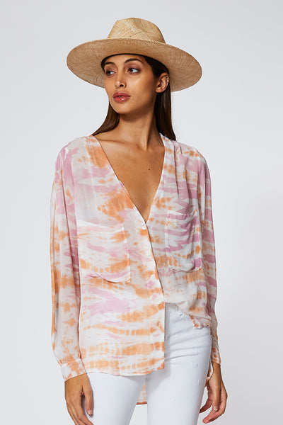 Frankie Top In Peach Bamboo