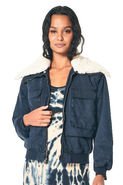 Earhart Jacket in Midnight Pigment