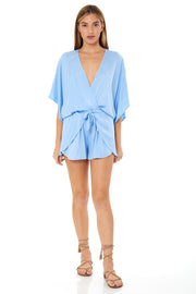 Edyth Romper in Baby Blue