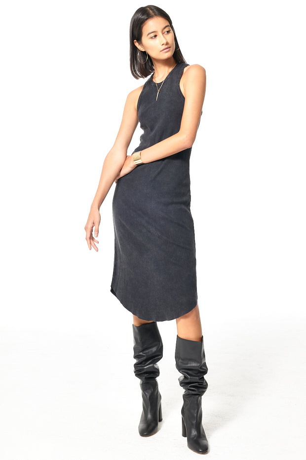 Robbie Tank Dress // Black Gold Mineral