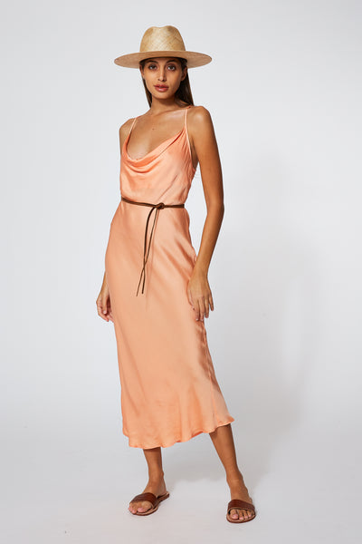 Sweetie Slip Dress In Clementine