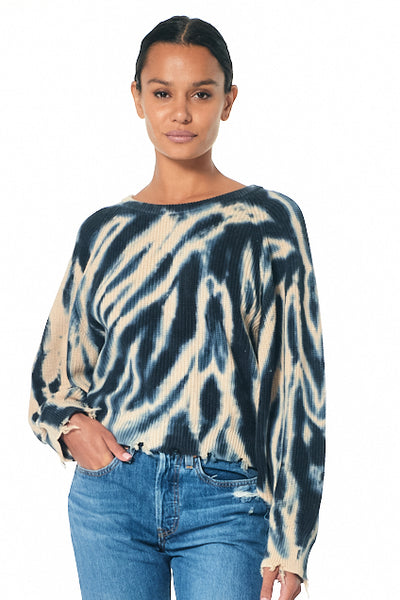 Demi Crew Neck Sweater // Blue Safari