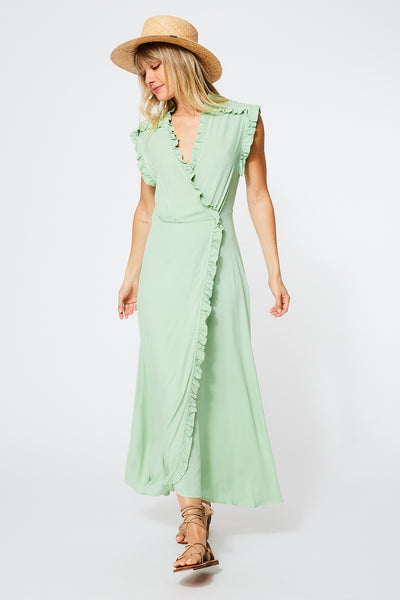Lluvia Dress in Sage