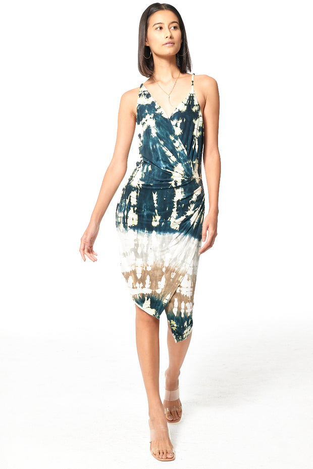 Nova Dress in Deep Teal Geode Wash