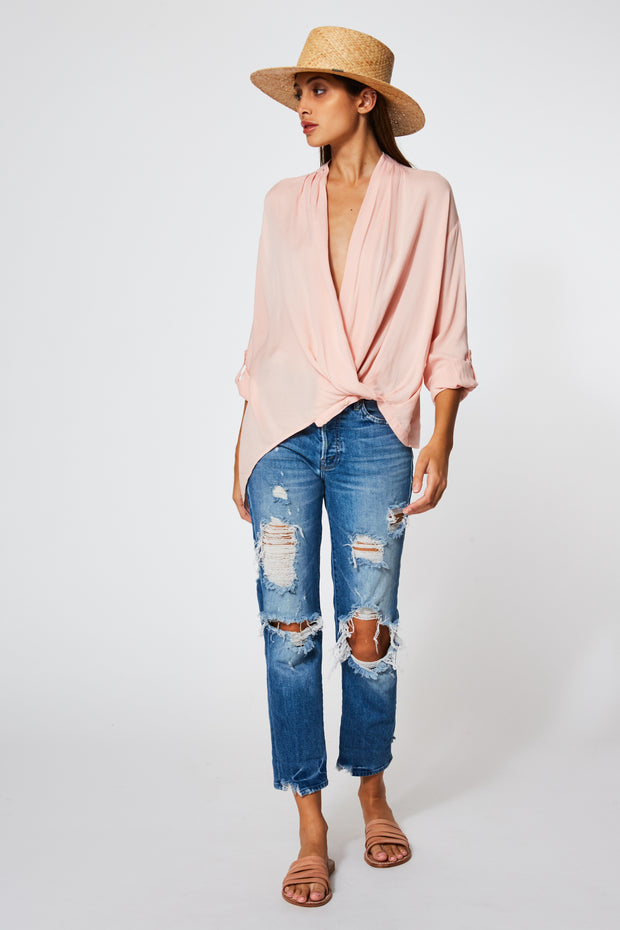 Corinne Blouse In Nude