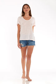 Oversize Tee in Pale Pink Oil Wash