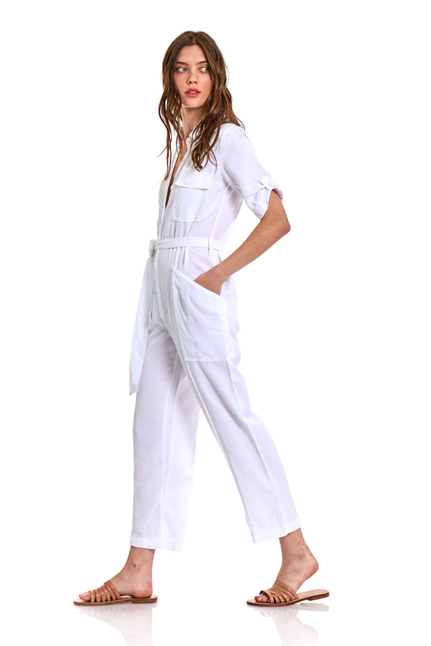 Graylin Jumpsuit In White