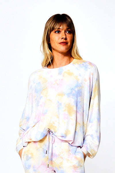 Juliette Crew Neck In Violet Burst