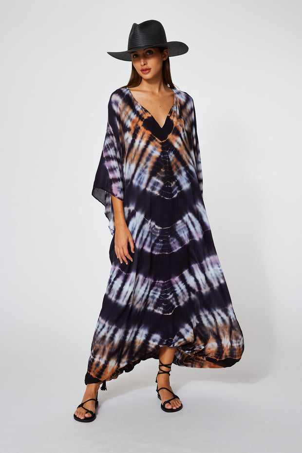 Cyrilla Dress In Eggplant Morocco Wash