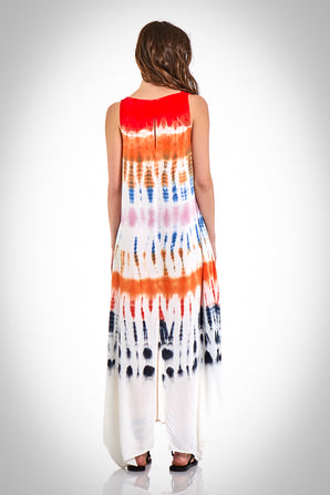 Ali Maxi in Red Rainbow Wash