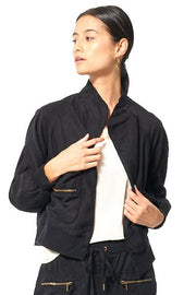 Fara Convertible Jacket // Black