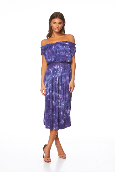 Margo Dress In Violet Micro Wash - SAMPLE FINAL SALE