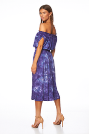 Margo Dress In Violet Micro Wash  - FINAL SALE